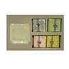 Fringe Soap Set Lemon Verbena Scent W/ Glass Tray