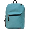 Two Compartment Backpack - Black And Light Blue