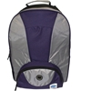 Two Compartment Backpack - Purple And Silver