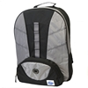 Two Compartment Backpack - Black And Silver