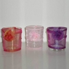 Rosette Glass Votive Candle Holder 12Pc Prepack
