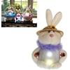 Springtime Bunny With Timer Color Changing Led Lights
