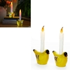 Yellow Finch Bird Flameless Candle Set Of 2