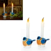 Blue Bird Flameless Candle Set Of 2