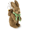 """12"""" Natural Brown Bunny With Knapsack Easter Accent"""