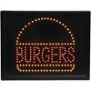 Programmed Led Sign- Burgers