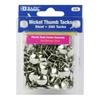Bazic Nickel (Silver) Thumb Tack (200/Pack)