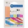 Bazic Assorted Size Paint Brush Set