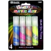Bazic 20 Ml Swirl Glitter Glue (4/Pack)