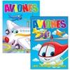 Aviones Libro Para Colorear Y Actividades