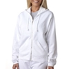 Chouinard Ladies Full-Zip Hooded Sweatshirt - White (2Xl)