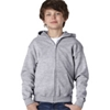 Gildan Youth Heavy Blendfull-Zip Hooded Sweatshirt - Sport Grey (S)