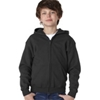 Gildan Youth Heavy Blendfull-Zip Hooded Sweatshirt - Black (S)