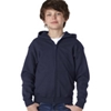 Gildan Youth Heavy Blendfull-Zip Hooded Sweatshirt - Navy (S)
