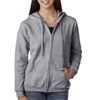 Gildan Missy Fit Heavy Blendfull-Zip Hooded Sweatshirt - Sport Grey (S)