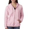 Gildan Missy Fit Heavy Blendfull-Zip Hooded Sweatshirt - Light Pink (S)