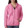 Gildan Missy Fit Heavy Blendfull-Zip Hooded Sweatshirt - Azalea (S)