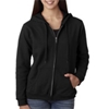 Gildan Missy Fit Heavy Blendfull-Zip Hooded Sweatshirt - Black (S)