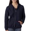 Gildan Missy Fit Heavy Blendfull-Zip Hooded Sweatshirt - Navy (S)
