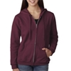 Gildan Missy Fit Heavy Blendfull-Zip Hooded Sweatshirt - Maroon (Xl)