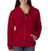 Gildan Missy Fit Heavy Blendfull-Zip Hooded Sweatshirt - Cardinal Red (3Xl)