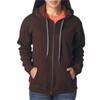 Gildan Missy Fit Heavy Blendvintage Full-Zip Hooded Sweatshirt - Russet (S)