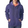 Gildan Missy Fit Heavy Blendvintage Full-Zip Hooded Sweatshirt - Lilac (S)