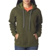 Gildan Missy Fit Heavy Blendvintage Full-Zip Hooded Sweatshirt - Moss (S)