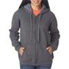 Gildan Missy Fit Heavy Blendvintage Full-Zip Hooded Sweatshirt - Tweed (S)