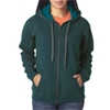 Gildan Missy Fit Heavy Blendvintage Full-Zip Hooded Sweatshirt - Midnight (S)