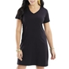 La T Ladies T-Shirt Dress - Black (S/M)