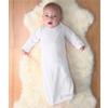 Rabbit Skins Infant Baby Rib Layette - White (Nb)