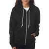 Anvil Ladies' Fashion Full-Zip Blended Hooded Sweatshirt - Black (2Xl)