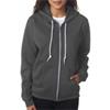 Anvil Ladies' Fashion Full-Zip Blended Hooded Sweatshirt - Charcoal (2Xl)