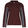 Badger Ladies' Drive 1 Brushed Tricot Polyester Jacket - Maroon/Graphite (2Xl)