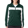 Badger Ladies' Brushed Tricot Hooded Jacket - Forest/White (L)