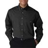Ultraclub(R) Men'S Wrinkle-Free End-On-End Shirt - Black (4Xl)