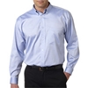 Ultraclub(R) Men'S Non-Iron Pinpoint Shirt - Blue (Xl)