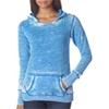 J-America Ladies' Vintage Zen Hooded Fleece - Oceanberry (Xl)