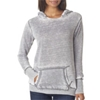 J-America Ladies' Vintage Zen Hooded Fleece - Cement (Xl)