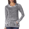 J-America Ladies' Vintage Zen Hooded Fleece - Dark Smoke (M)