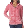 J-America Ladies' Vintage Zen Full-Zip Hooded Fleece - Wildberry (S)