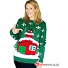 Stuck Santa Christmas Adult Sweater | (Medium)