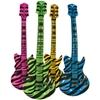 Inflatable Zebra Print Guitar