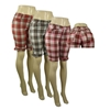 Women'S Plus Size Plaid Bermuda Shorts