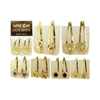 Assorted Styles Gold Tone Snapclips