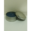 Blue Candle In Silver Tin - Violet Frangrance