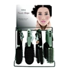 Classic Hairbrushes With Ribbed Rubber Grip