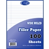 "Quadruled Filler Paper - 100 Sheets- 10.5"" X 8"""