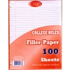 Filler Paper - 100 Sheets - College Ruled Paper